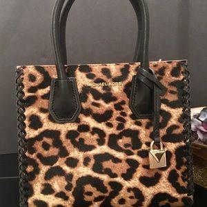 a24040b60c04 Michael Kors Bags - Michael Kors Mercer Leopard Calf Hair Crossbody